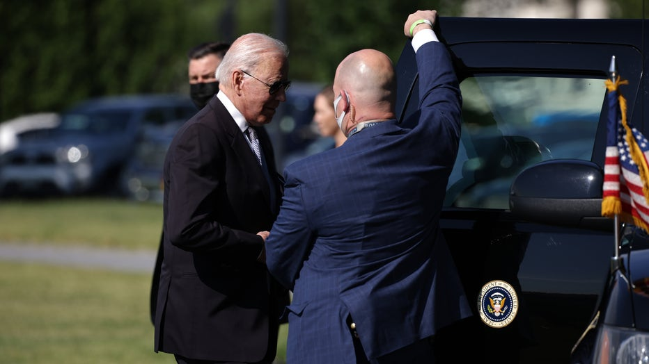 President Biden Returns To White House After Weekend In Delware