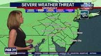 Weather Authority: Scattered storms could turn severe on Monday