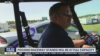 Pocono Raceway stands to be at full capacity for double header weekend