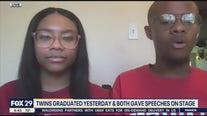 Twins graduate valedictorian and salutatorian at Bodine High School for International Affairs