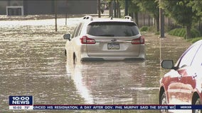 Thunderstorms dump heavy rain over Chester County causing drivers to get stuck in flooded streets