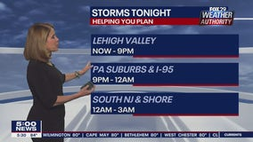 FOX 29 Weather Authority 7-day forecast 5 p.m.