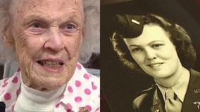 97-year-old World War II nurse celebrated by friends and family