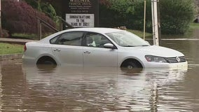Thunderstorms dump heavy rain across Chester County leaving many drivers stuck in flooded streets