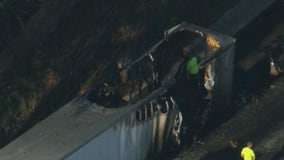 Route 76 eastbound reopens after tractor-trailer fire
