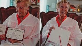 91-year-old grandma finally gets her long-awaited high school diploma