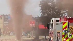 Manhole spews debris after underground steam pipe explodes in Indianapolis
