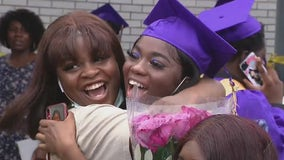 Weather forces student-only indoor graduation for Upper Darby High School