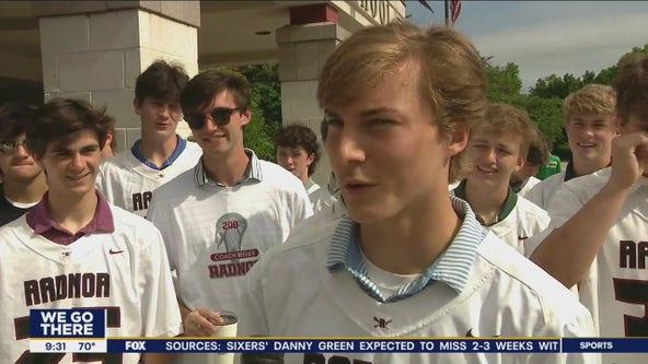 Radnor High School celebrates two lacrosse championships