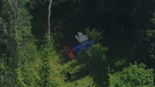 Small plane crashes in wooded area of residential Doylestown neighborhood