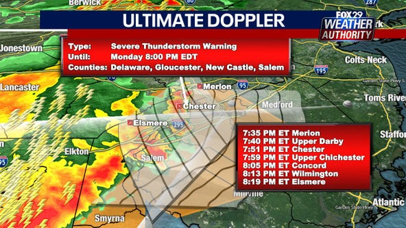 Weather Authority: Severe thunderstorm watches, warnings in effect as storms move into region