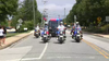 Procession escorts fallen firefighter to coroner's office