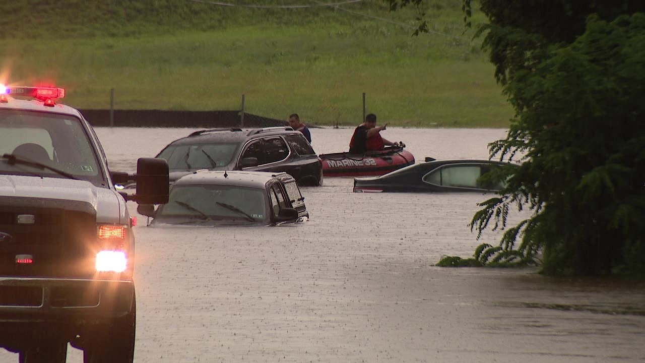 Parts of Pennsylvania and New Jersey Swamped by Flash Floods