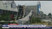 Video shows extensive damage at Lowe's in Bensalem Township