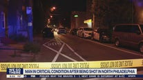 Man in critical condition after being shot in North Philadelphia