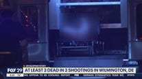 At least 3 dead in 3 shootings in Wilmington, Del.