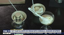 Topping your favorite ice cream with cordials, liqueurs, or spirits