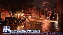 Massive water main break in Bella Vista floods roads, basements