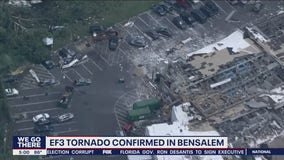 Powerful EF-3 tornado rips through Bensalem Township, leaving widespread damage behind