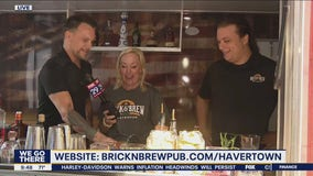 Jenn checks out the Whiskey Wagon at Brick & Brew ahead of their grand opening