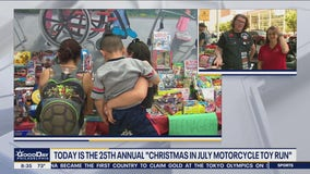Today is the 25th annual Christmas in July Motorcycle Toy Run