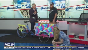 Local artist partners with White Dog Cafe to bring dog-friendly ice cream cart to locations