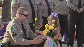 MCSO deputies escort daughter of fallen officer to 1st day of kindergarten