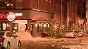 Cleanup continues after water main break in Queen Village