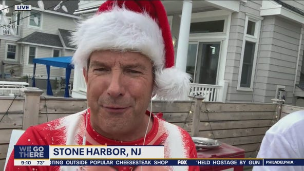 Bob gets ready for Christmas in July in Stone Harbor