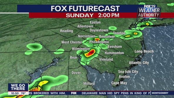 Weather Authority: 10 p.m. Saturday forecast