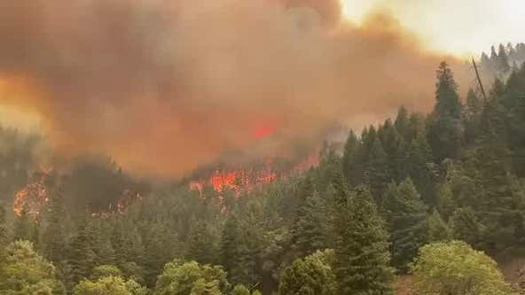 Winds and 'fire clouds' feed California's largest blaze