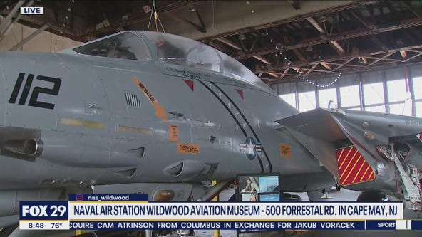 Richard checks out the Naval Air Station Museum in Cape May