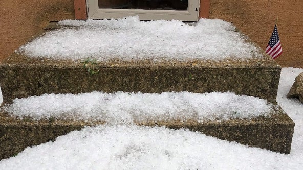 Severe storms bring hail, damaging winds to area