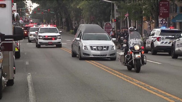 Procession held for Montgomery County firefighter killed in weekend crash on I-76