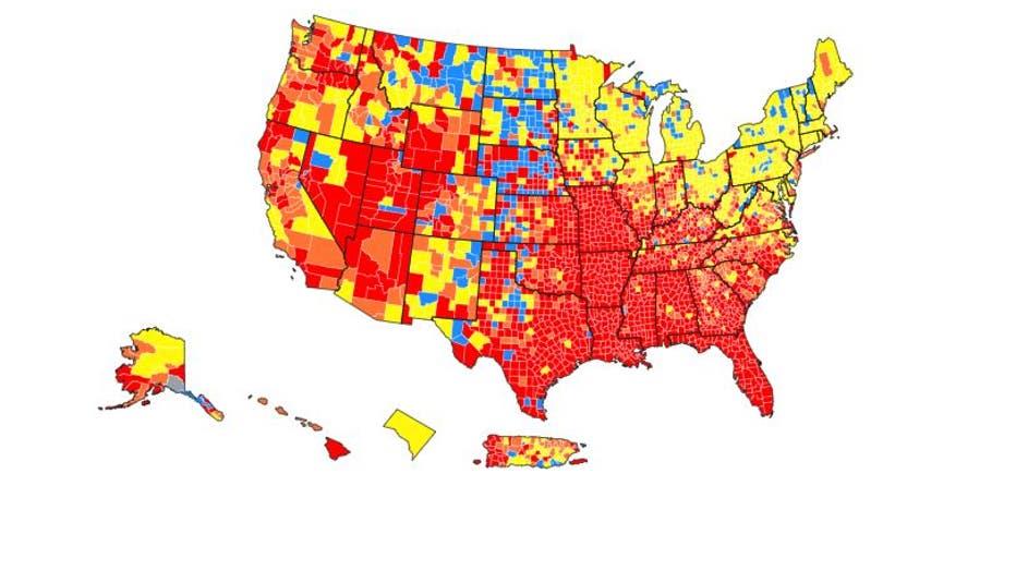 CDC community transmission map