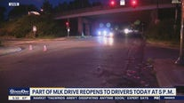 Part of MLK Drive reopens to drivers Wednesday at 5 p.m.