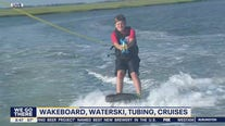 Wakeside Watersports offers zup, wakeboard, waterskiing, tubing and cruises