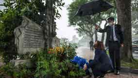 Kamala Harris visits John McCain monument in Vietnam, 3 years after his death