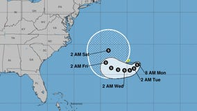 Tropical Storm Henri forms in the Atlantic, south of Bermuda
