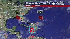 3 tropical systems impacting US, Caribbean and Bermuda