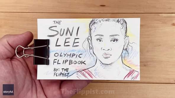 Sunisa Lee's Olympic gold win inspires flipbook art