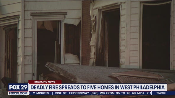 2 dead, 2 injured in West Philadelphia fire that spread to 5 homes