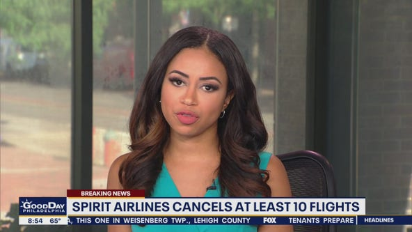Spirit Airlines cancels at least 10 flights