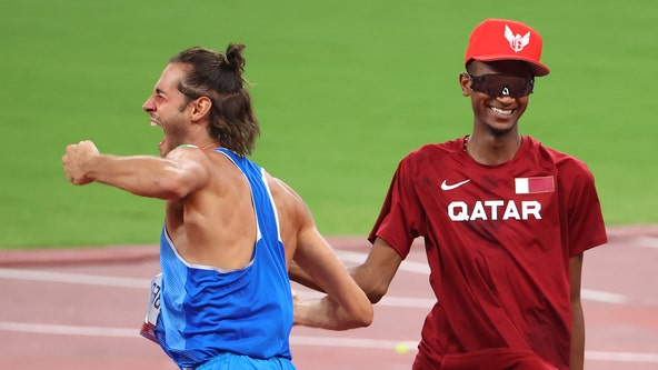 High jumpers Tamberi, Barshim agree to share gold medal in touching moment