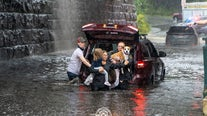 Family rescued from flooded car in Caln Township during heavy downpours