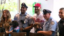 Philadelphia Phillies pitcher Archie Bradley, fiancée donate puppies to local police departments
