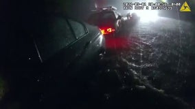 Dramatic water rescues caught on camera by Princeton police during Ida