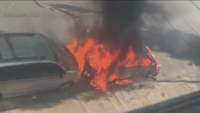 Caught on camera: SUV explosion in Logan