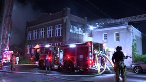 4-alarm fire engulfs vacant building in Chester, officials say