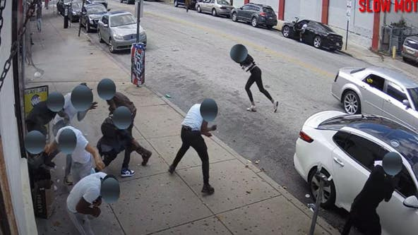 Police release surveillance video of drive-by shooting in Fern Rock that left 1 dead, 5 wounded